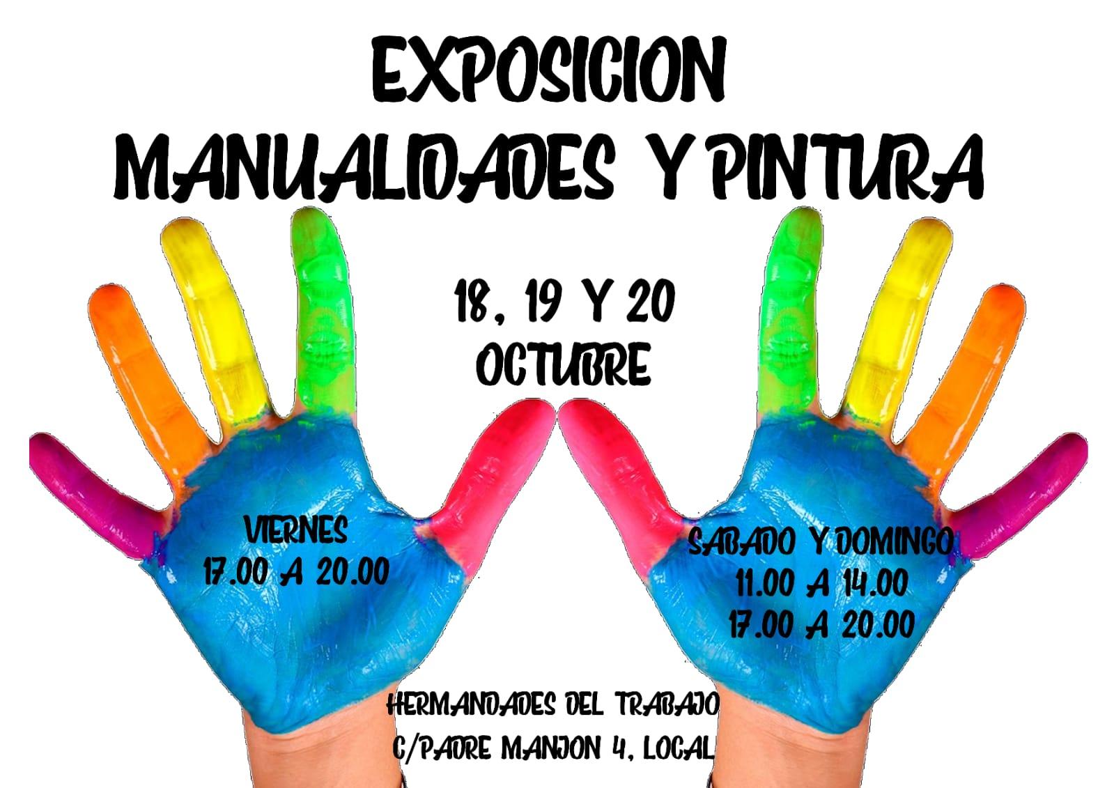 EXPOSICIÓN DE PINTURA Y MANUALIDADES. NO OS LA PERDÁIS.